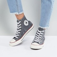 Converse Chuck Taylor All Star Hi Sneakers In Stonewashed Black at asos.com