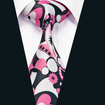 New Arrival Colorful Floral Cotton Ties For Men Party Vintage Printed Necktie Neckwear Design High Quality