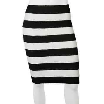 IZ Byer California Striped Skirt - Juniors, Size: