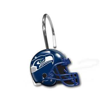 Seattle Seahawks NFL Shower Curtain Rings [12 Rings Per Box]