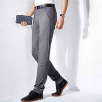 Summer Men Casual Slim Stretch Pants [6541362051]