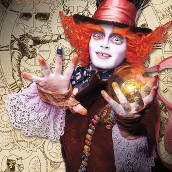 AIW 2 - Mad Hatter Movie Poster RP14261 UPC882663042616 23x34 Disney Alice Through The Looking Glass