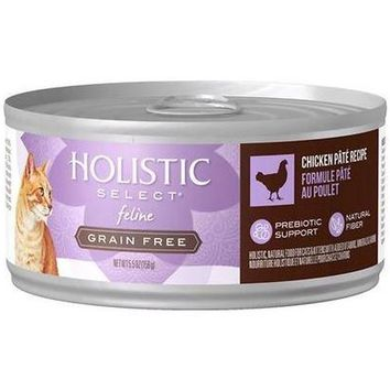 Holistic Select Chicken Pate Canned Cat Food 24/5.5 oz