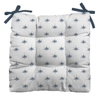 Social Proper Bla Blomst Outdoor Seat Cushion