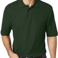 jerzees men's easy care? polo - forest green (2xl)