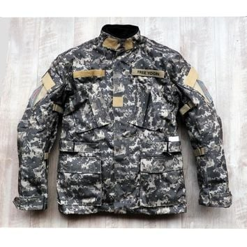 oxford ride jacket  motorcycle clothing off-road motorcycle automobile race jackets with Removable waterproof cotton liner