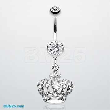 The Majestic Crown Belly Button Ring