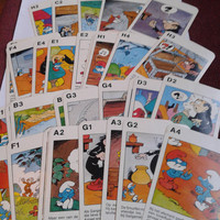 vintage smurfs  dutch Quartet card game