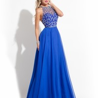 Scoop Beaded Razorback Prom Dress By Rachel Allan Princess 2863