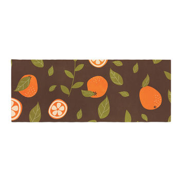 "Strawberringo ""Orange Pattern"" Abstract Food Bed Runner"