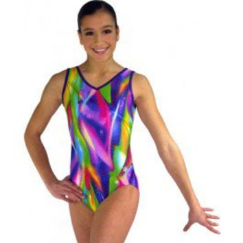 Gymnastics Leotards by Snowflake Designs Laser Lights leotard Cool Gymnastic Leotards for Workout and Competition