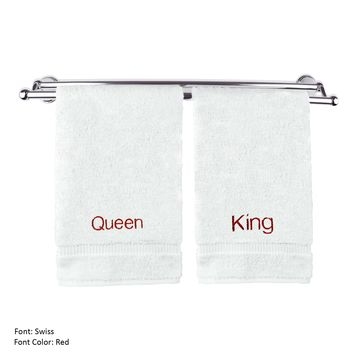 Luxury Hotel & Spa Queen and King Hand Towels Wedding Engagement Anniversary Gift
