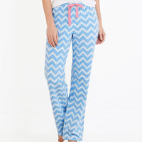 Chevron Whale Knit Lazy Pants