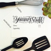 Recipe card set - Yummy stuff - 10 double sided cards