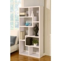 Amazon.com: Masima Unique Bookcase / Display Cabinet in White: Furniture & Decor