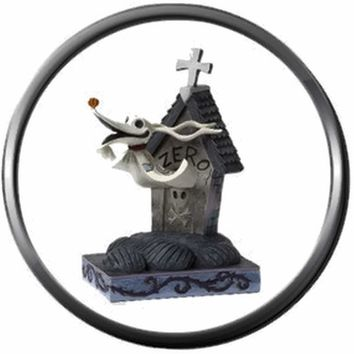 Nightmare Before Christmas Jack Skellington Dog Zero In Dog House 18MM - 20MM Charm for Snap Jewelry New Item