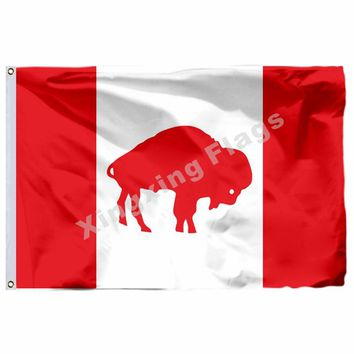 Buffalo Bills Canada Flag 3ft X 5ft Polyester NFL1 Team Banner Flying Size No.4 90*150cm Custom Flag