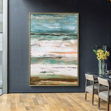 Seascape Abstract acrylic painting on canvas cuadros Original art Extra Large Contemporary Wall Art pictures hallway decor cuadro abstractos