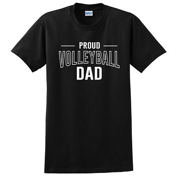 Proud volleyball dad volleyball team squad game day sport dad love volleyball Father's day T Shirt