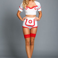 ARMY NURSE PIN UP COSTUME BY LEG AVENUE