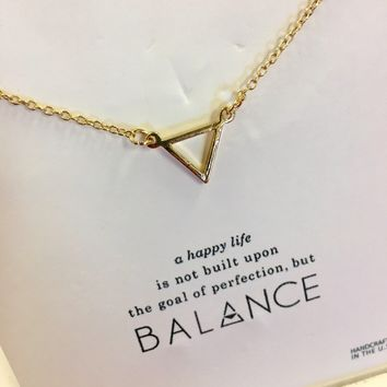 """Balance"" pendant necklace"