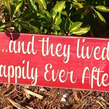 18x8 Happily Ever After Wood Sign