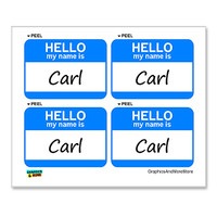 Carl Hello My Name Is - Sheet of 4 Stickers