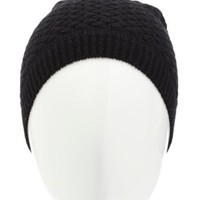 Basket-Weave Knit Beanie by Charlotte Russe