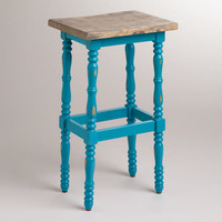 Pagoda Blue Penelope Spindle Stool | World Market