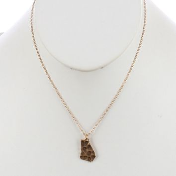 Gold State Of Georgia Charm Necklace