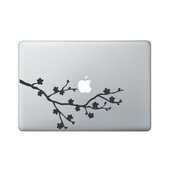 Cherry Blossom Laptop Decal - Floral Macbook Decal