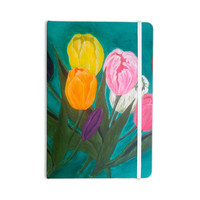 "Christen Treat ""Tulips"" Rainbow Flower Everything Notebook"