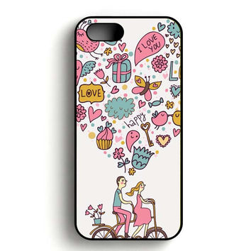 Love Cycle iPhone 5, iPhone 5s and iPhone 5S Gold case