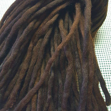 Wool Dreads Handmade Hair Extensions Wool Dreads Ombre Hair Accessories Set of 45