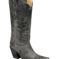 Corral Distressed Floral Embroidered Cowgirl Boots - Snip Toe - Sheplers