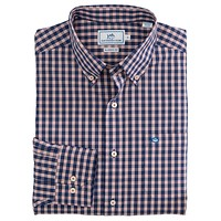 Mt. Pleasant Plaid Sport Shirt in Blue Night by Southern Tide