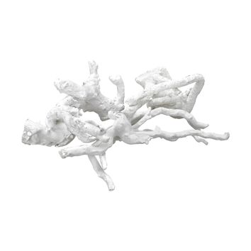 Ekwok Wooden Tussle Sculpture White