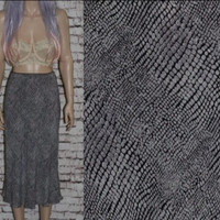 90s high waist skirt black and white snake skin Y2K grunge hipster boho festival cyber goth s m chiffon flowy club kid
