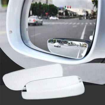 VONES0 2Pcs Universal Car Auto 360° Wide Angle Convex Rear Side View Blind Spot Mirror