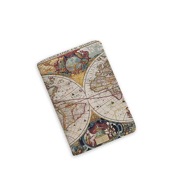 Travel Gifts - Vintage Map - World Map - Passport Cover - Passport Holder - Travel Map Passport - by HeartOnMyFingers - APP-PPC-021
