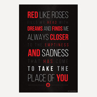"""RWBY Red Like Roses Poster (24"""" x 36"""")"""