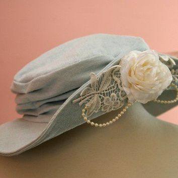 70's Denim Flower Hat