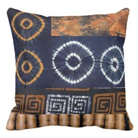 African Tidied Graphic Throw Pillow
