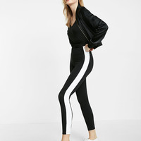 Express One Eleven High Waisted Sexy Stretch Wide Stripe Leggings
