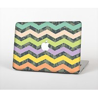 The Vibrant Colored Chevron With Digital Camo Background Skin Set for the Apple MacBook Air 11""
