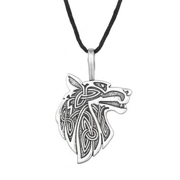 Dawapara Viking necklace Fox Triquetra Fenrir Animal Teen Wolf Necklace men Fashion Jewelry pendant Supernatural Amulet Knot