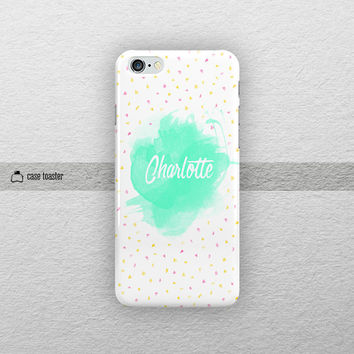 "Watercolor name  - iphone 6 case (4.7""), iphone 6 plus case (5.5""), iphone 5C case, iphone 5S case, iphone 4S case, iphone case"