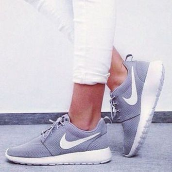 Nike Roshe One Women Trending Fashion Casual Sport Shoes Sneakers Grey G