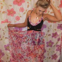 Bespoke maxi dress, cut out detail on bust size 8-10 from LoveLauraDesign