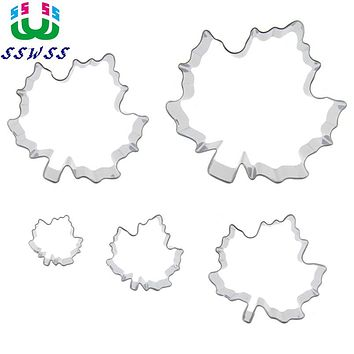Autumn Cake Cookie Biscuit Baking Mold,Red Maple Leaf Shaped Cake Decorating Fondant Cutters Tools,Direct Selling